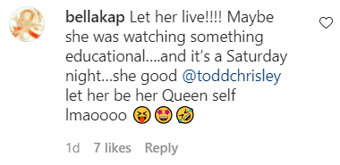 A screenshot of a fan's comment on Todd Chrisley's Instagram post | Photo: Instagram/toddchrisley