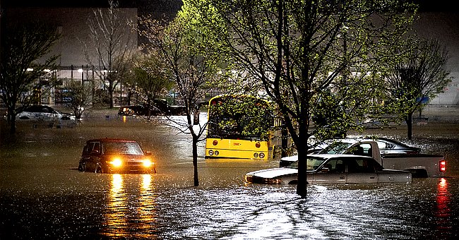 Picture of the flooding that Nashville experienced over the weekend. | Photo: Twitter/NYPost