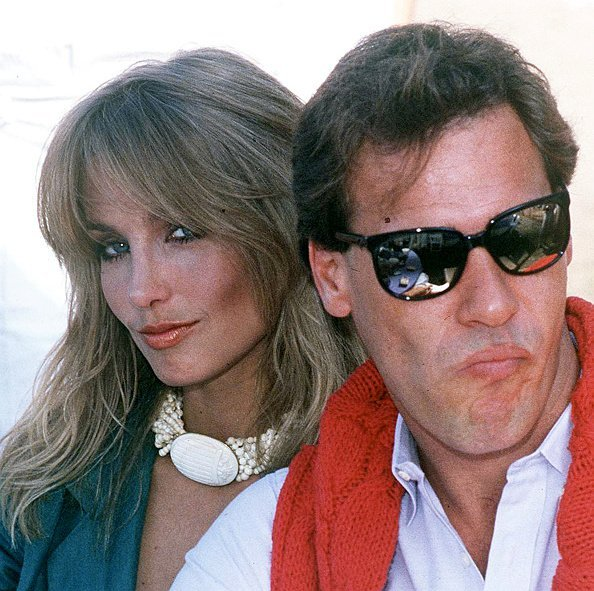 Heather Thomas with actor Grainger Hines, circa 1990. | Source: Getty Images.