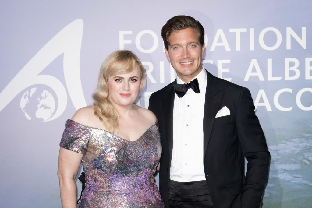 Rebel Wilson and Jacob Busch pictured together at Monaco at Prince Albert's Monte-Carlo Gala for Planetary Health, 2020. | Photo: Getty Images