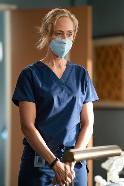 """Kim Raver as Dr. Teddy Altman during the season 17 of """"Grey's Anatomy.   Photo: Getty Images"""