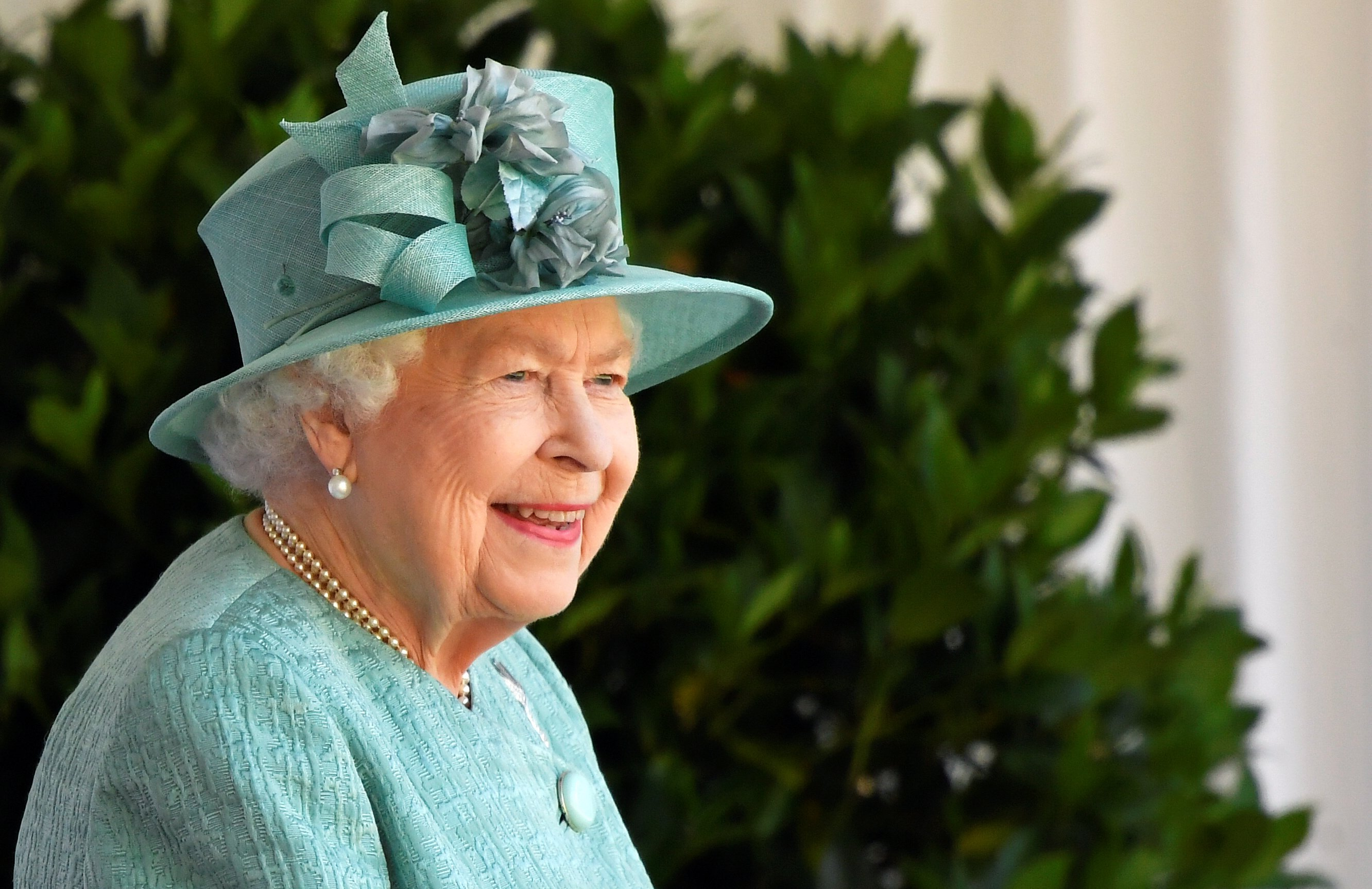 Queen Elizabeth II attends a ceremony to mark her official birthday at Windsor Castle on June 13, 2020, in Windsor, England. | Source: Getty Images.