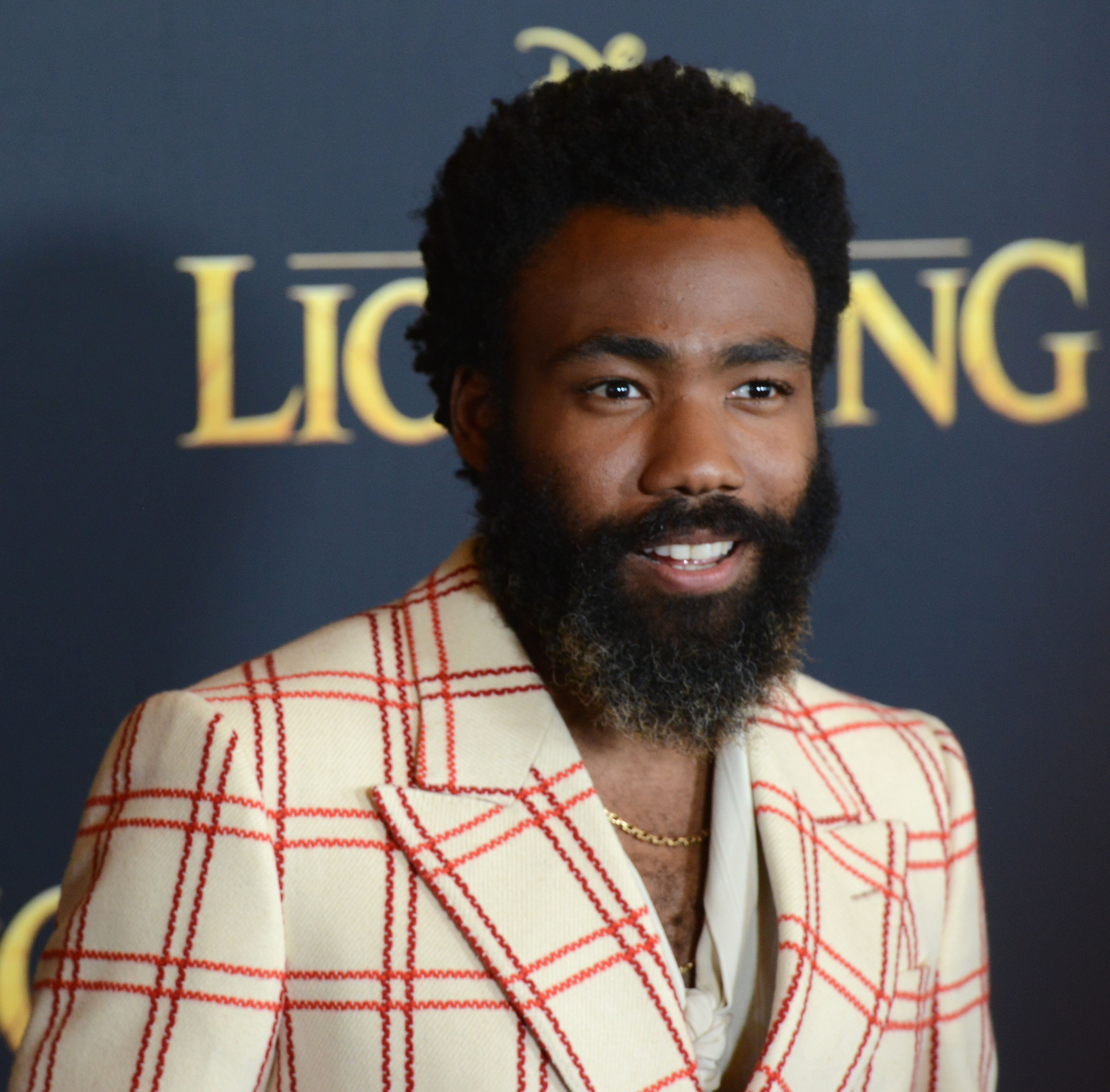 "Donald Glover arrives for the Premiere Of Disney's ""The Lion King."" 