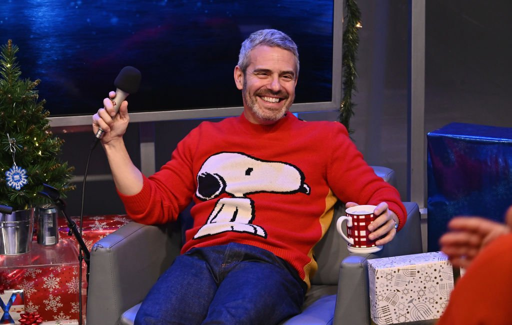 Andy Cohen attends Radio Andy's 5th annual 'Holiday Hangout with Amy Sedaris' on Radio Andy! , December 2019   Source: Getty Images