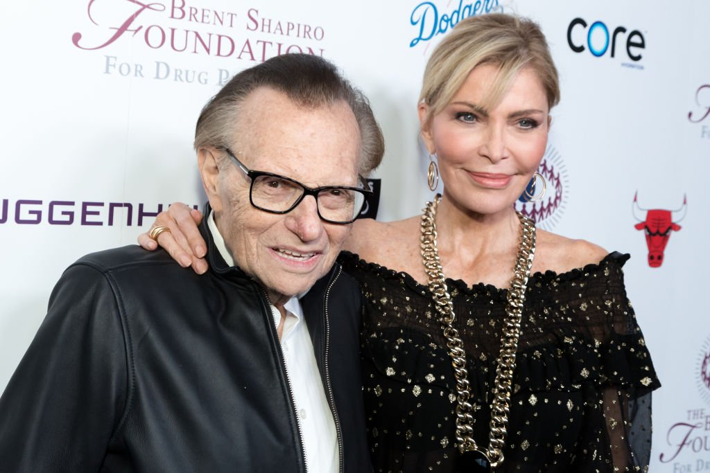 Larry King and Shawn King pictured at the Brent Shapiro Foundation Summer Spectacular, 2018, California.   Photo: Getty Images