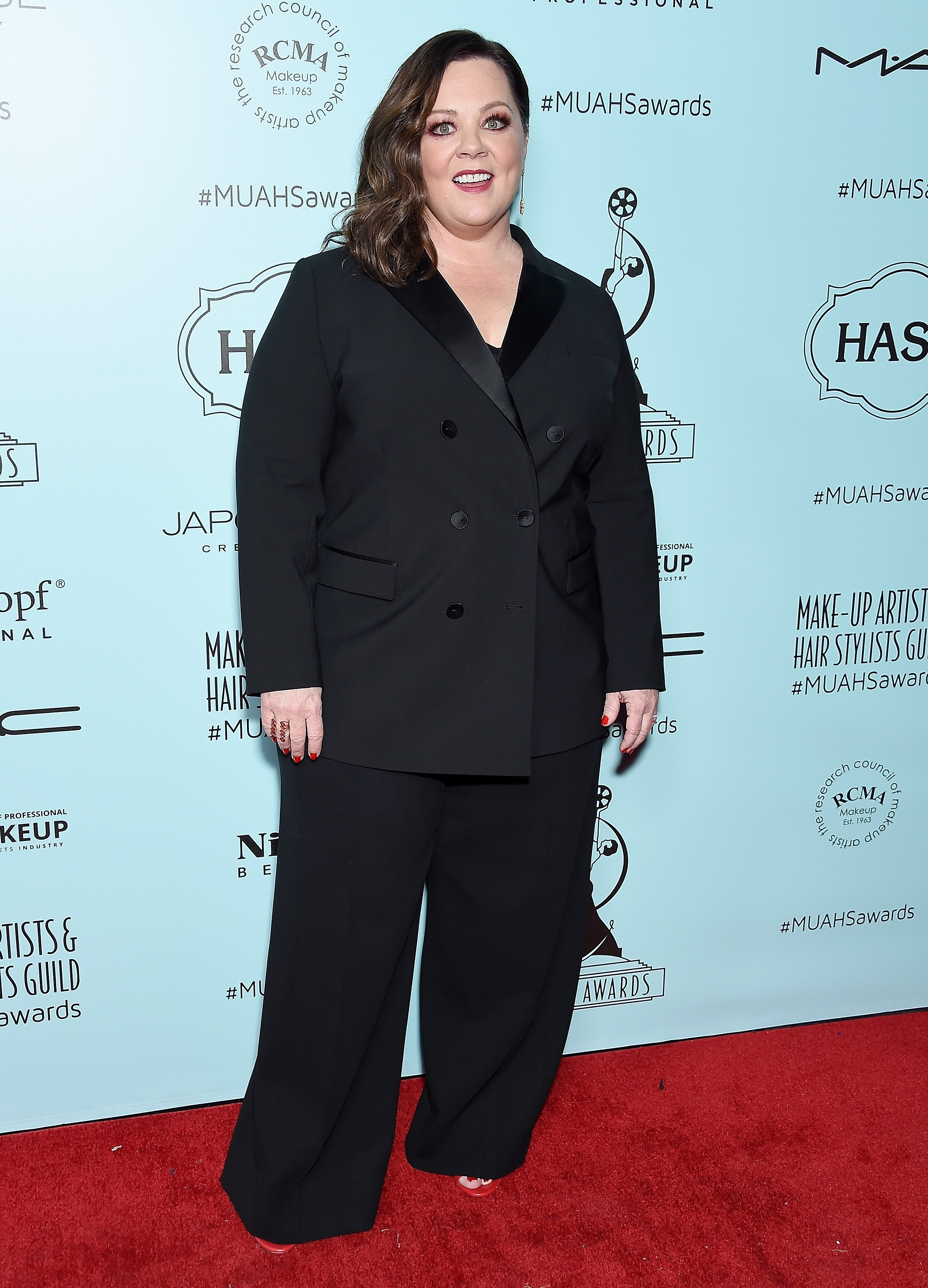 Melissa McCarthy at the Make-Up Artists and Hair Stylists Guild Awards in February 2019 | Photo: Getty Images