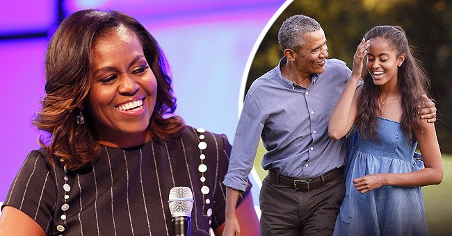 Michelle Obama Talks about Barack's Ugly, Loud Cry at Daughter Malia's High School Graduation