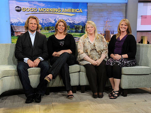 "The cast of TLC's ""Sister Wives"" on ""Good Morning America"" 
