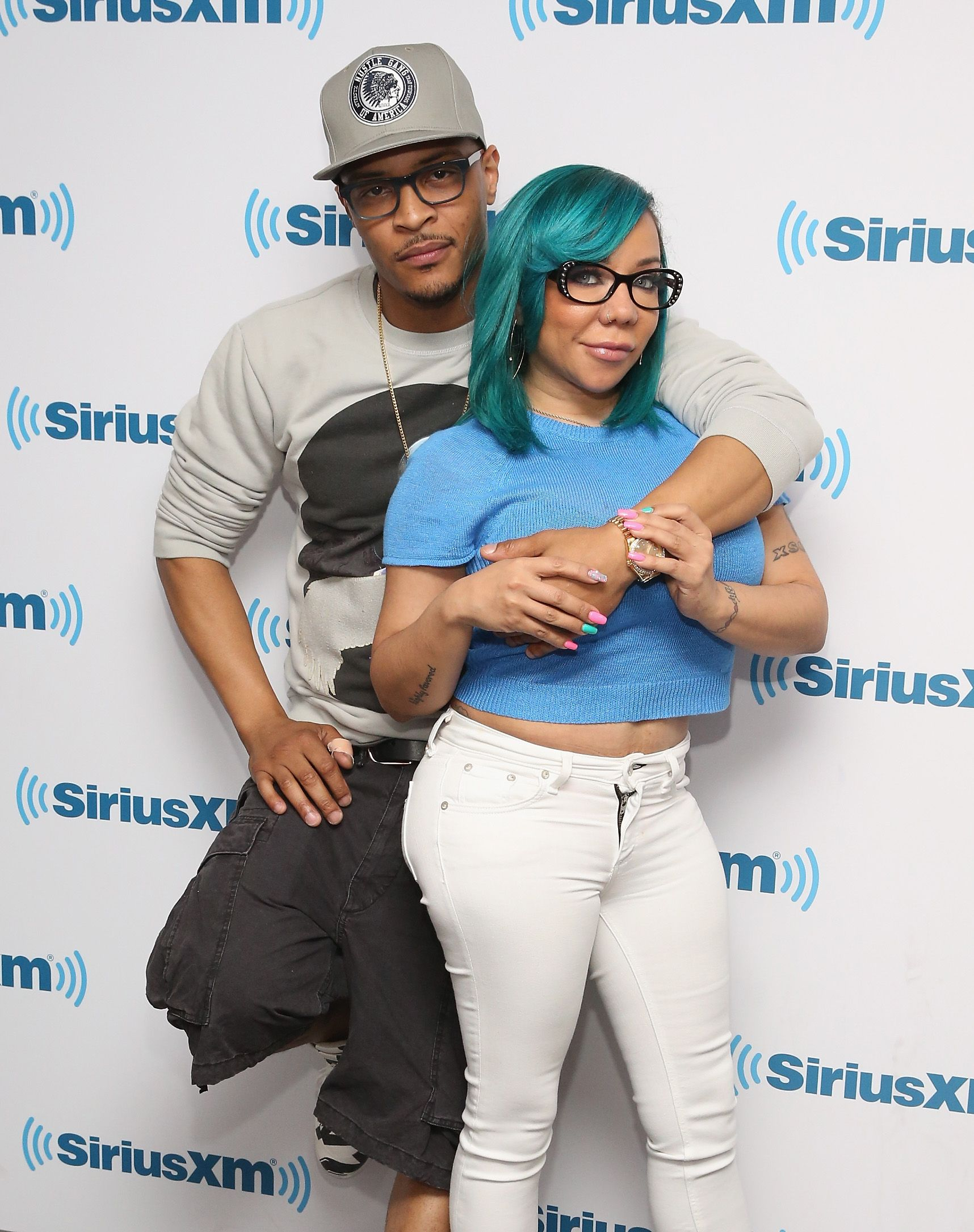 T.I. and Tameka Cottle-Harris at SiriusXM Studios on June 12, 2015 in New York.  | Photo: Getty Images