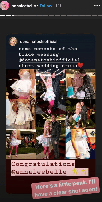 Annalee Belle shares pictures of her with JD Scott at their Halloween themed wedding in Las Vegas | Source: instagram.com/annaleebelle