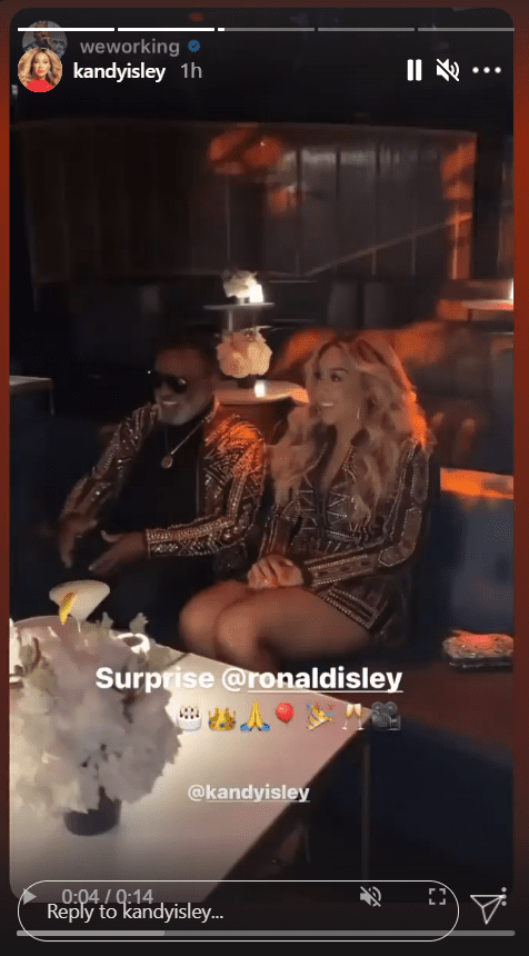 Ronald Isley and his 44-year-old wife, Kandy Isley in matching outfits as they celebrate Ron's 80th birthday party | Photo: Instagram/kandyisley