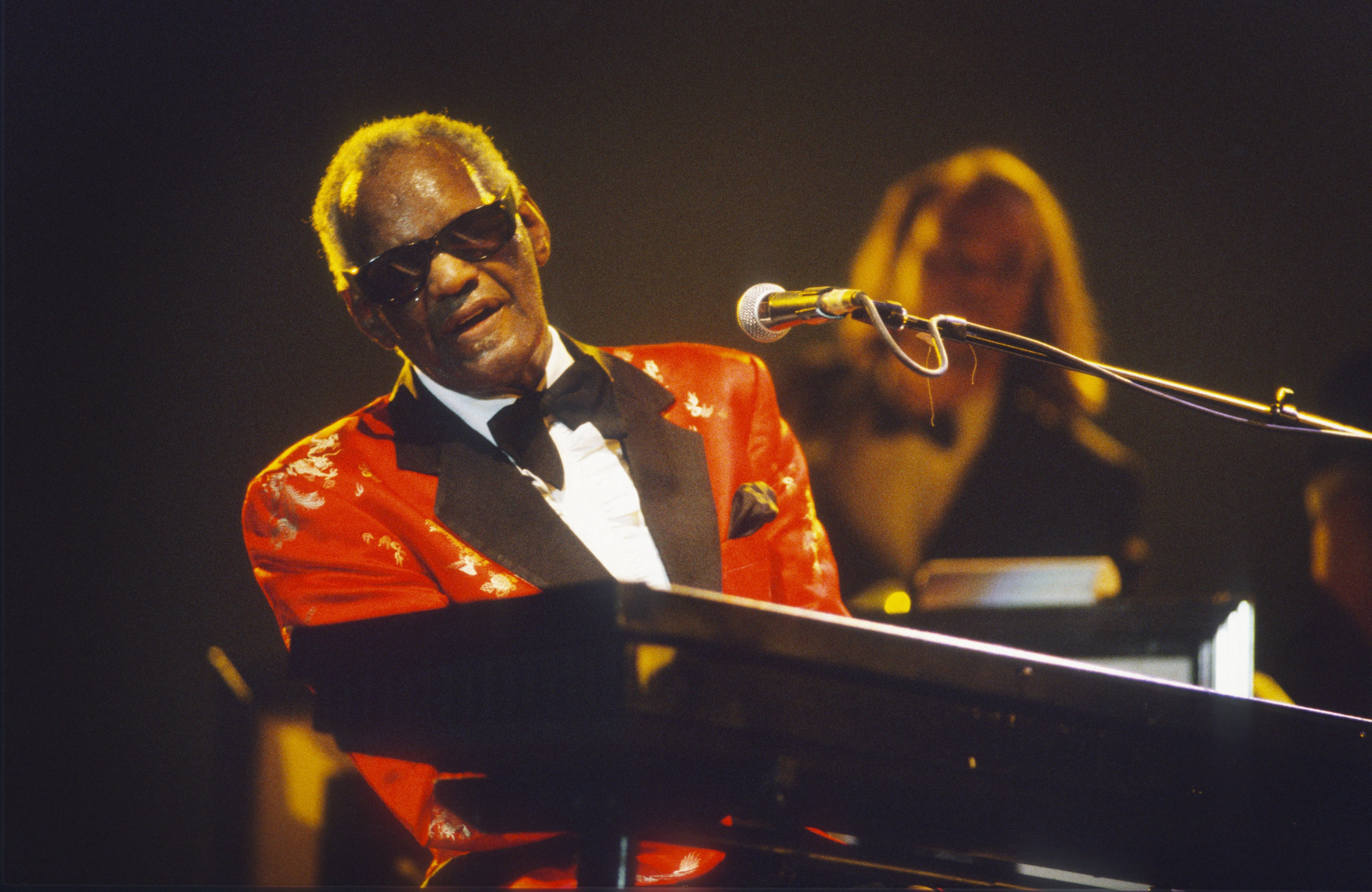 Ray Charles during the Rhythm 'n' Blues Festival at Peer, Belgium circa July 1994. | Source: Getty Images