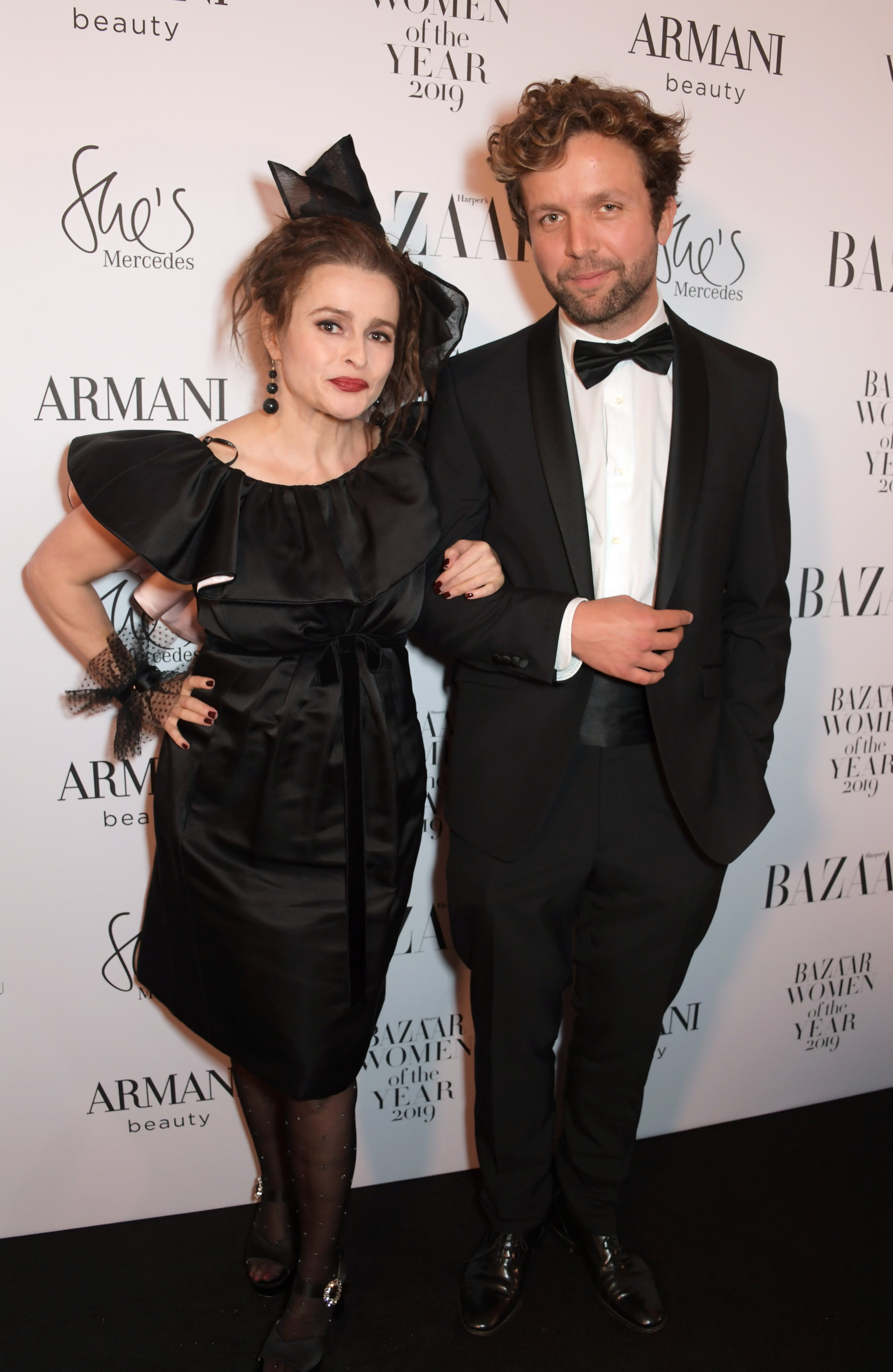 Helena Bonham Carter and Rye Dag Holmboe attend Harper's Bazaar Women of the Year Awards in London, England on October 29, 2019 | Photo: Getty Images