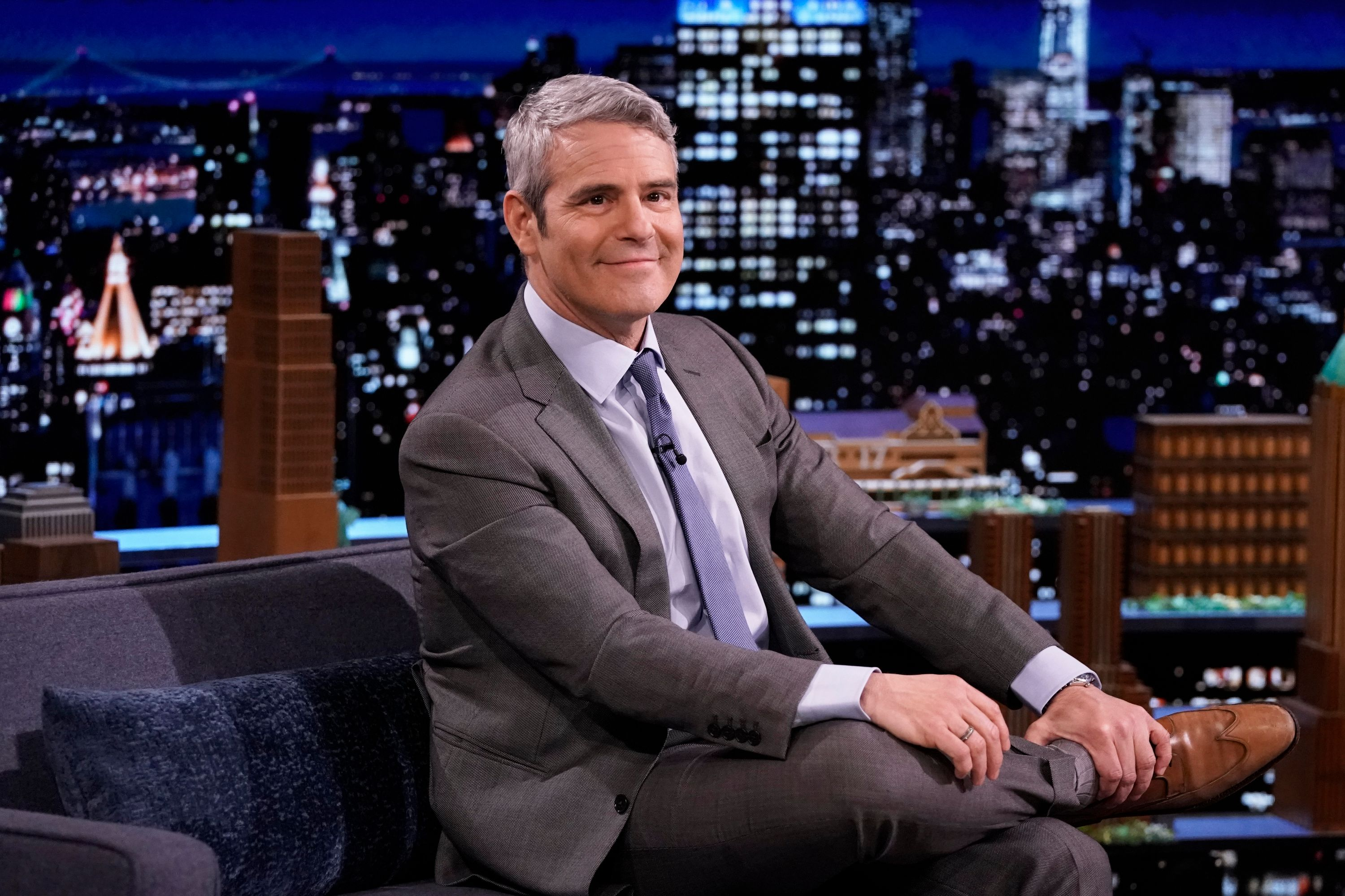 """Andy Cohen during an interview on """"The Tonight Show Starring Jimmy Fallon"""" on March 22, 2021 