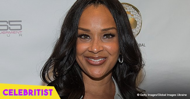LisaRaye McCoy and her fiancé are all smiles in photo after their engagement on 'The Proposal'