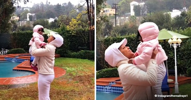 LisaRaye McCoy melts hearts as she dances in the rain with adorable granddaughter in touching video