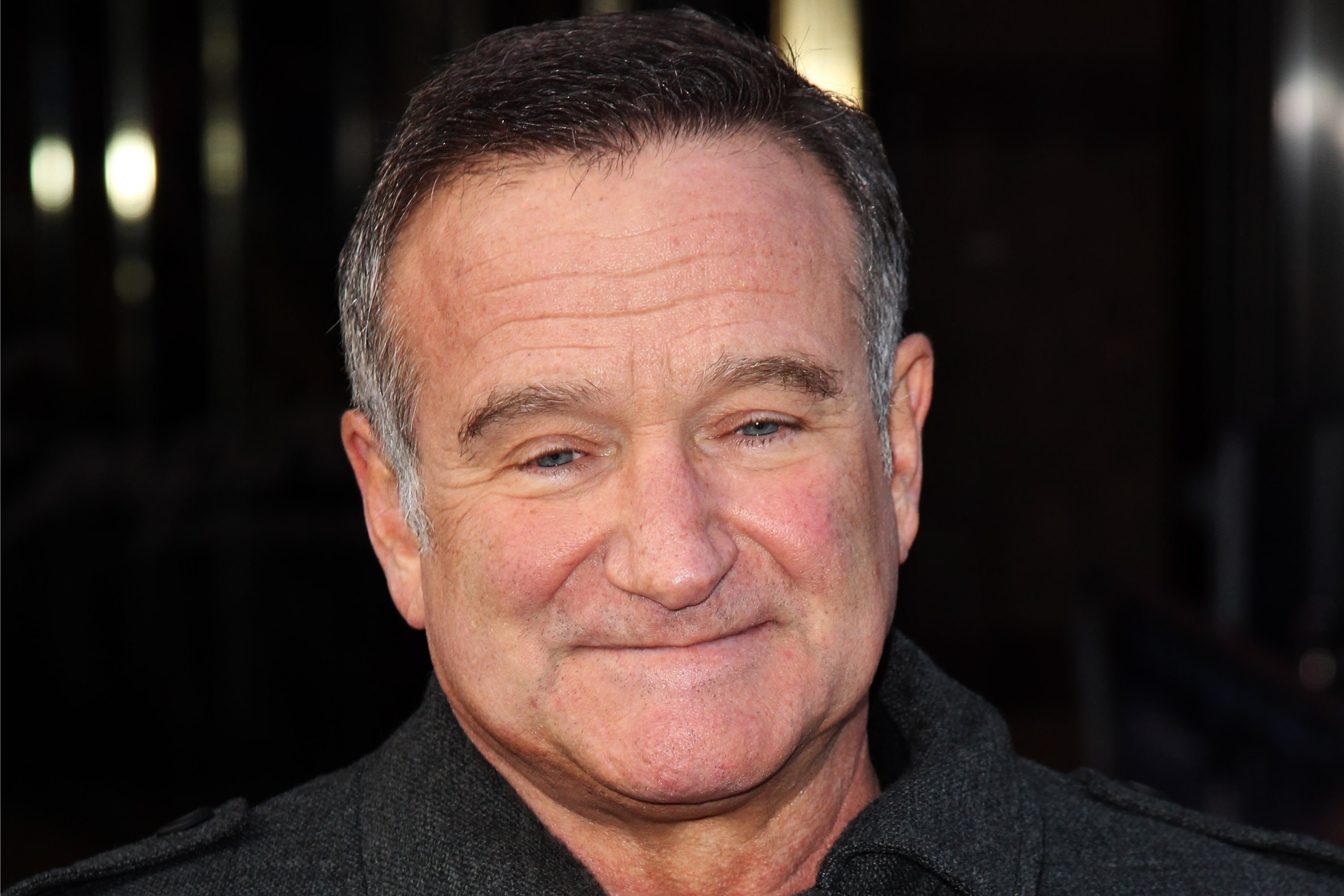 """Robin Williams at the European premiere of """"Happy Feet Two"""" at The Empire Leicester Square, 2011, London, England.   Photo: Getty Images"""
