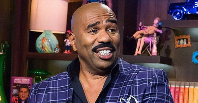 Steve Harvey's Grandson BJ Graduates from Pre-K – See Him Wearing His Toga in a Pic with His Parents