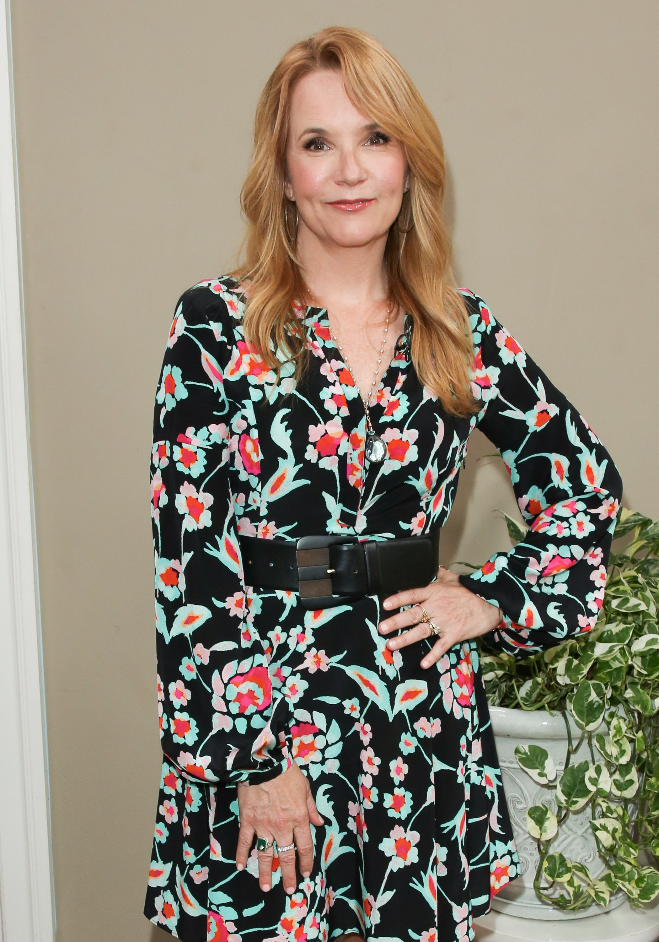 """Lea Thompson visit Hallmark's """"Home & Family"""" at Universal Studios Hollywood on June 5, 2018 in Universal City, California.   Source: Getty Images"""