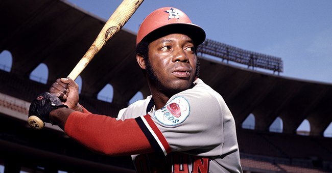 Outfielder Jimmy Wynn, of the Houston Astros, poses for a portrait prior to a game in May, 1972 against the St. Louis Cardinals in St. Louis, Missouri | Photo: Getty Images