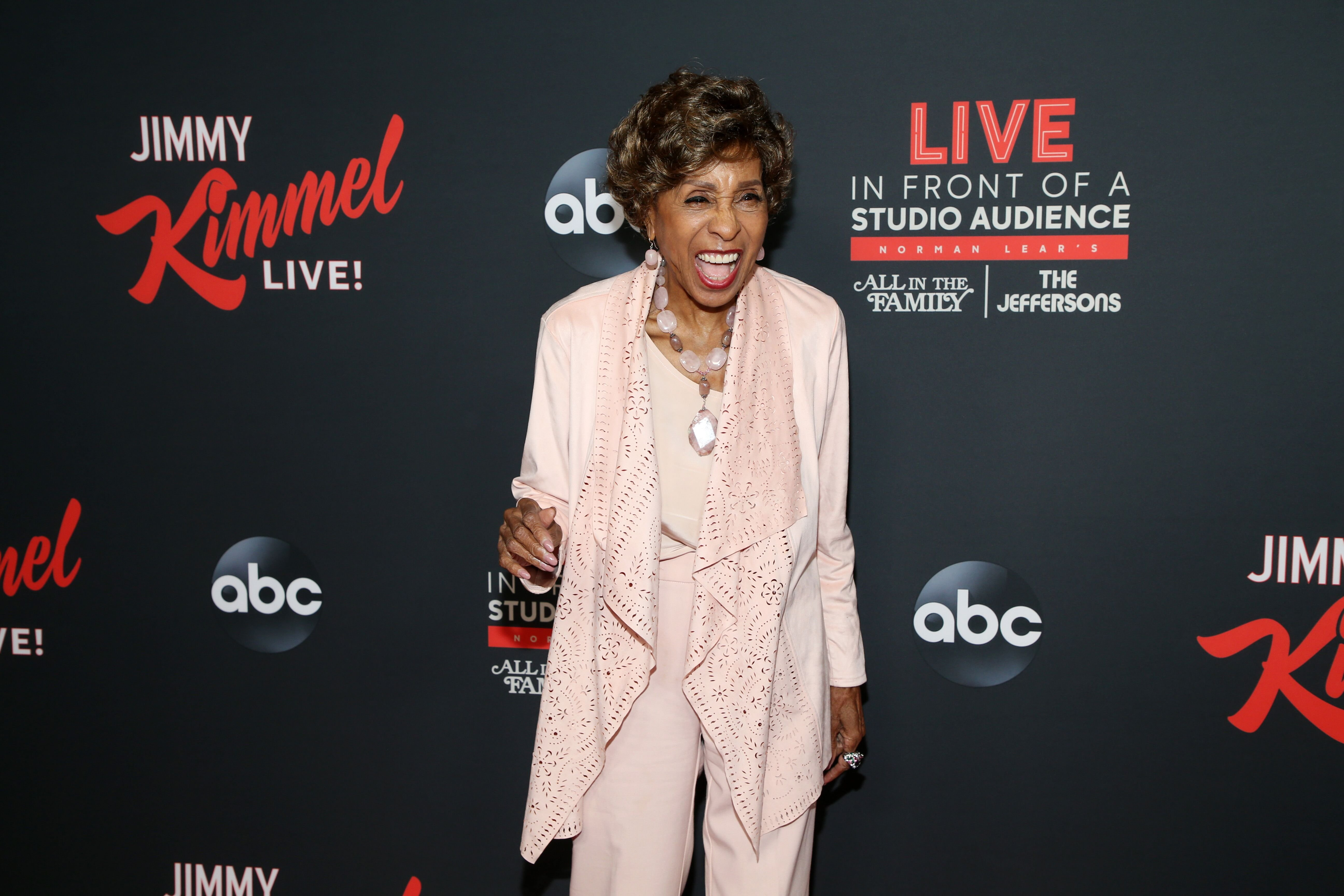 """Marla Gibbs on the """"JImmy KImmel Live"""" show/ Source: Getty Images"""