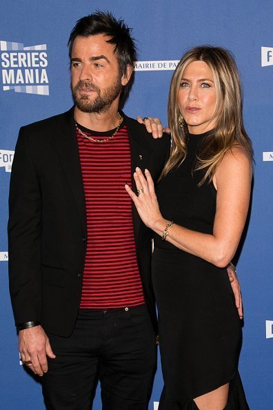 Justin Theroux and Jennifer Aniston at Le Grand Rex on April 13, 2017 in Paris, France. | Photo: Getty Images