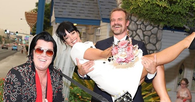 Check Out 'Stranger Things' Star David Harbour & Singer Lily Allen's Las Vegas Wedding