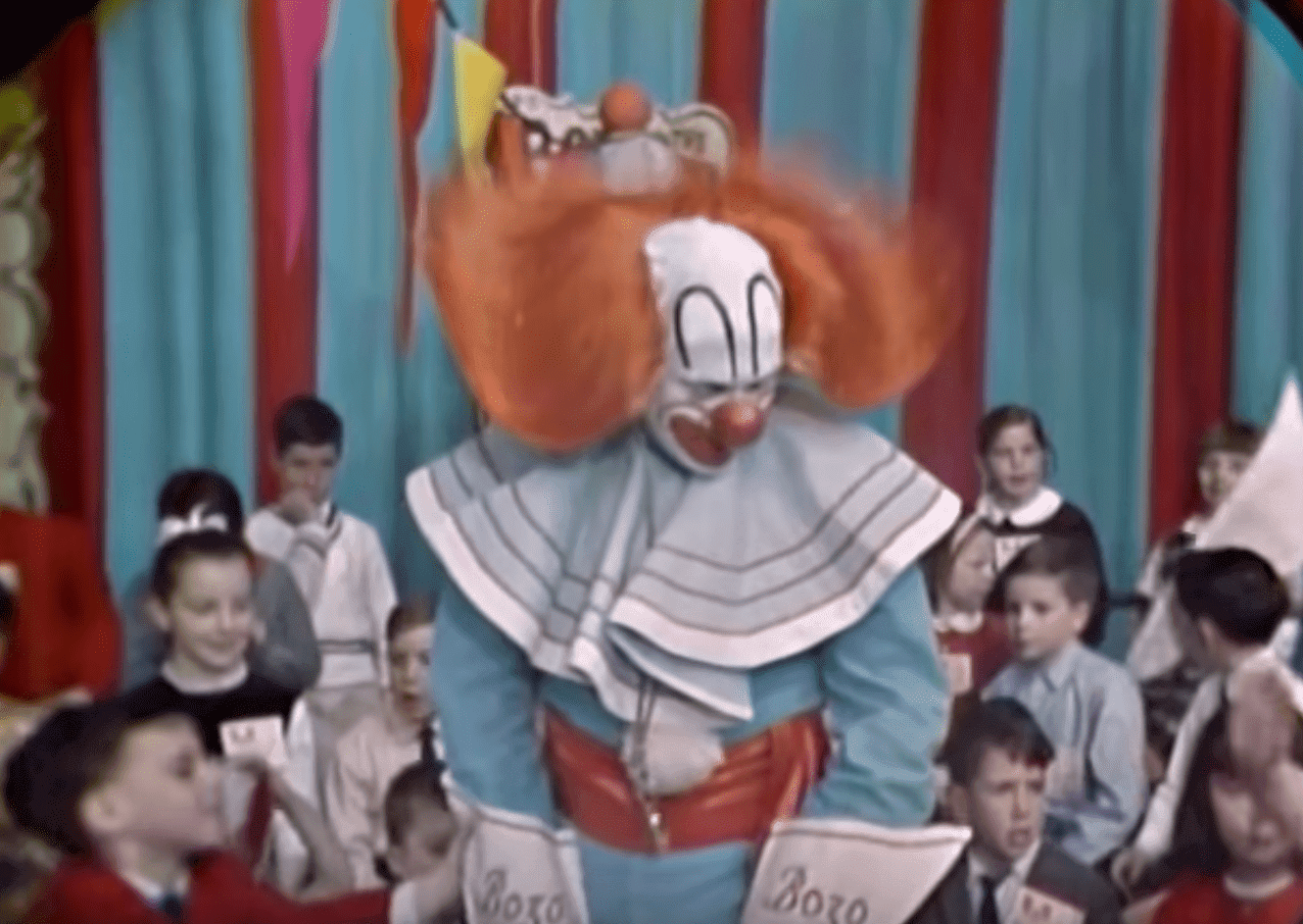 Frank Avruch portraying Bozo the clown during a show on WHDH -TV Boston | Source: YouTube/VintageTelevision
