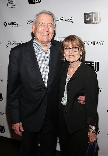 Dan Rather and Jean Goebel at the 8th annual Fast Company Grill during SXSW on March 10, 2018 in Austin, Texas.   Photo: Getty Images