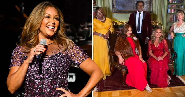 Vanessa Williams Stuns in a Deep Red Cleavage-Revealing Feathered Dress in New Photo & Video