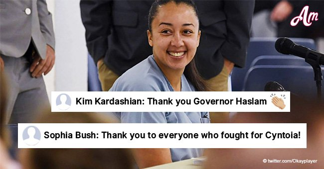 Kim Kardashian and other celebs react to Cyntoia Brown's full clemency thanking gov. Bill Haslam