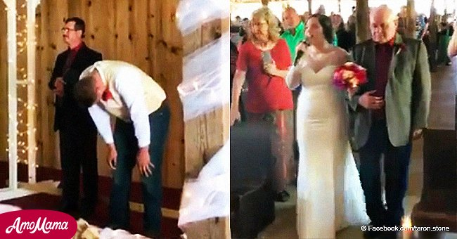 Bride moves unsuspecting groom to tears with amazing rendition of a beloved Elvis classic