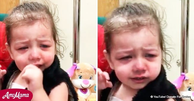 Blind baby girl sees mom for the first time after surgery
