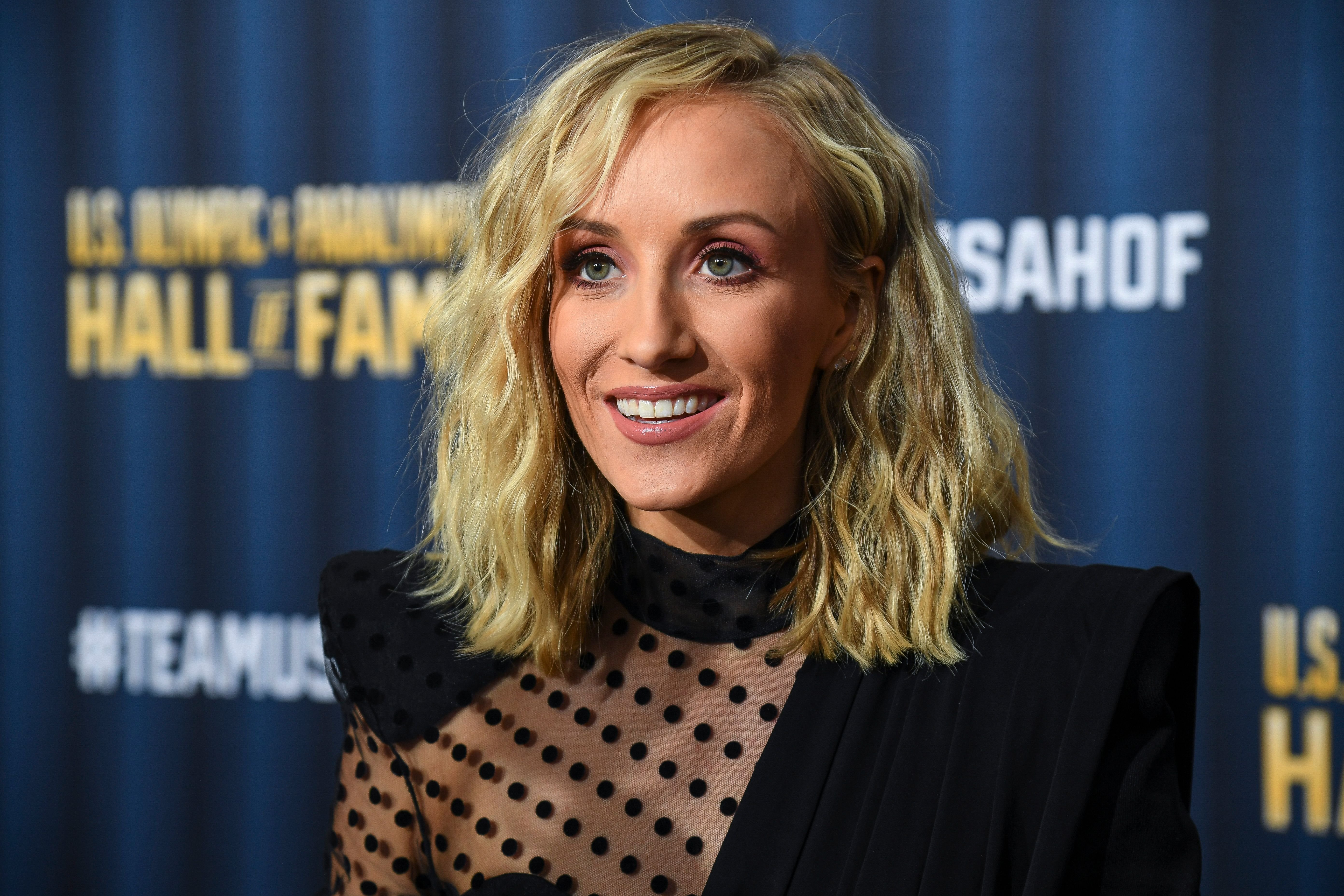 Nastia Liukin on the red carpet before the U.S. Olympic Hall of Fame Class of 2019 Induction Ceremony on November 1, 2019   Photo: Getty Images