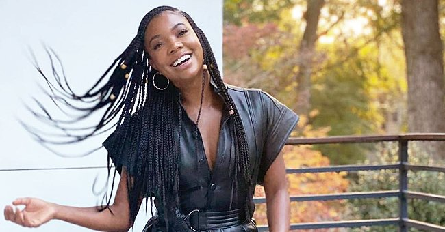 See Gabrielle Union's Fit Figure on Display in This All-Black Leather Outfit for a Photo Shoot