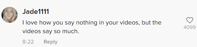 A user's comment on a video of a man who claimed his wife was poisoning him. | Photo: tiktok.com/@thethirdgift