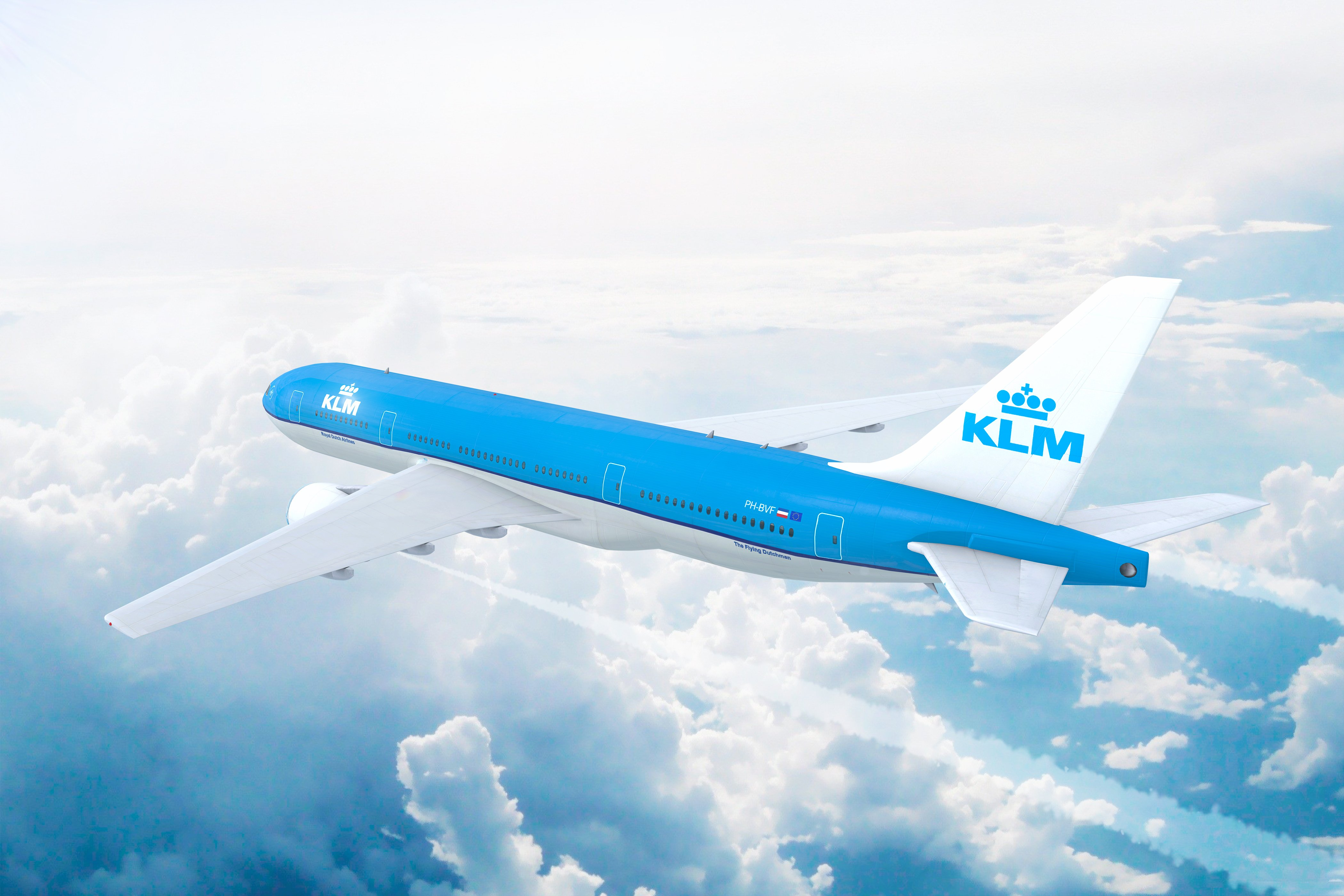 Aerial view of KLM Royal Dutch Airlines | Image: Shutterstock