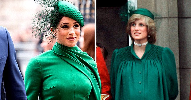 Meghan's Commonwealth Day Green Dress Bears Similarity to Princess Diana's Maternity Look
