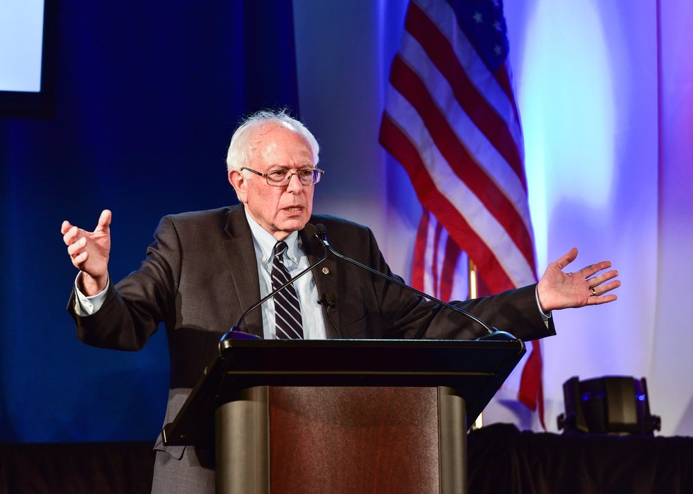 Bernie Sanders speaks at 20/20's Criminal Justice Forum which was held at Allen University. Dr. Ben Carson and Martin' O'Malley were also in attendance. | Source: Shutterstock