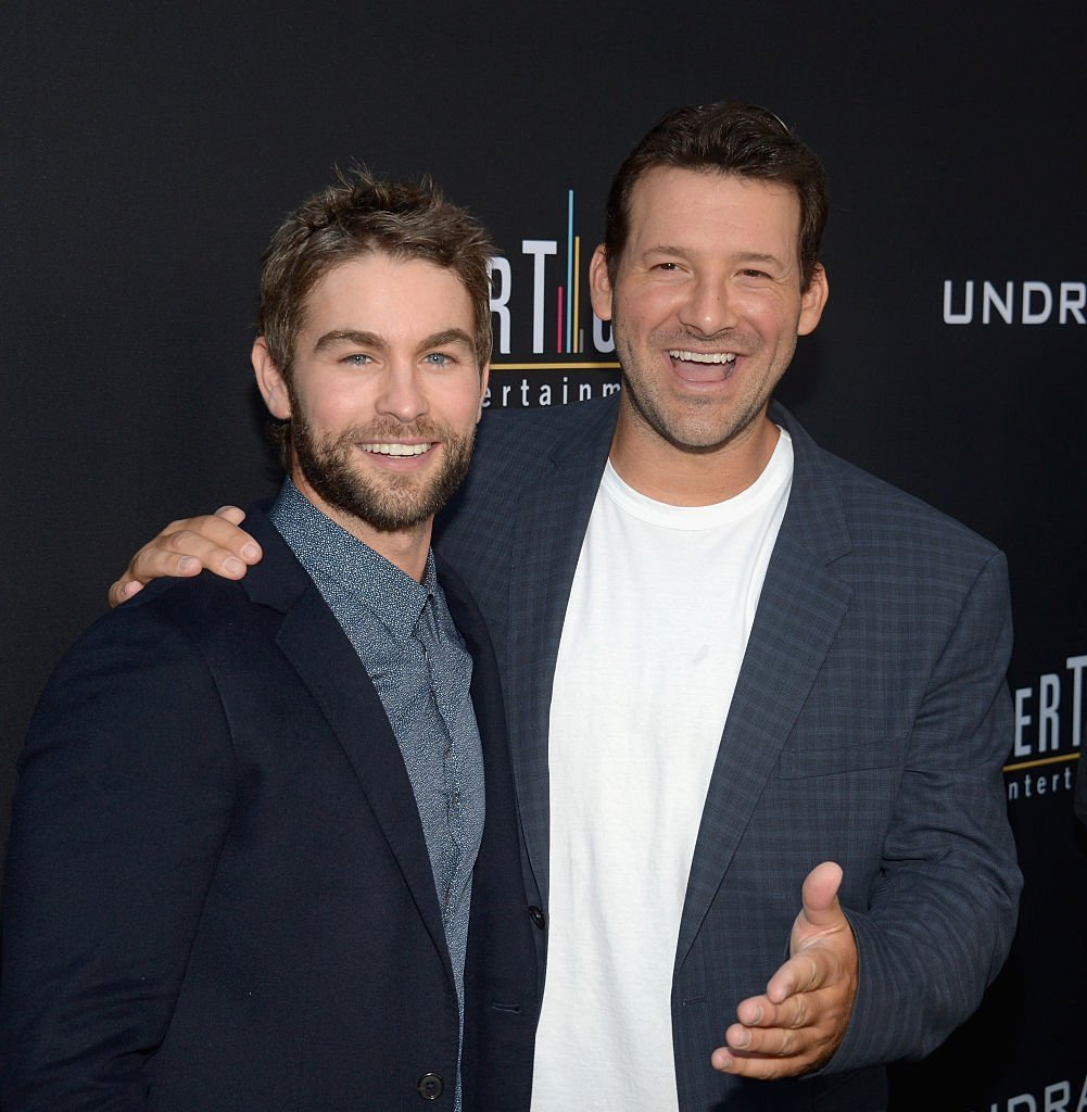 Chace Crawford and Tony Romo. I Image: Getty Images.