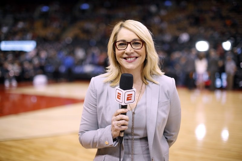 Doris Burke on April 4, 2018 at the Air Canada Centre in Toronto, Ontario, Canada   Photo: Getty Images