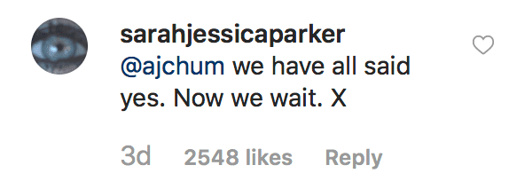 "Sarah Jessica Parker responds to a fan after announcement about ""Hocus Pocus 2"" being in the works 