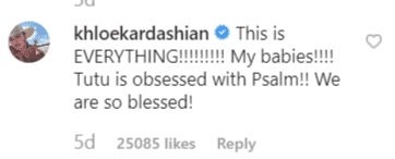 Khloe's comment on Kim's post | Instagram: @kimkardashian
