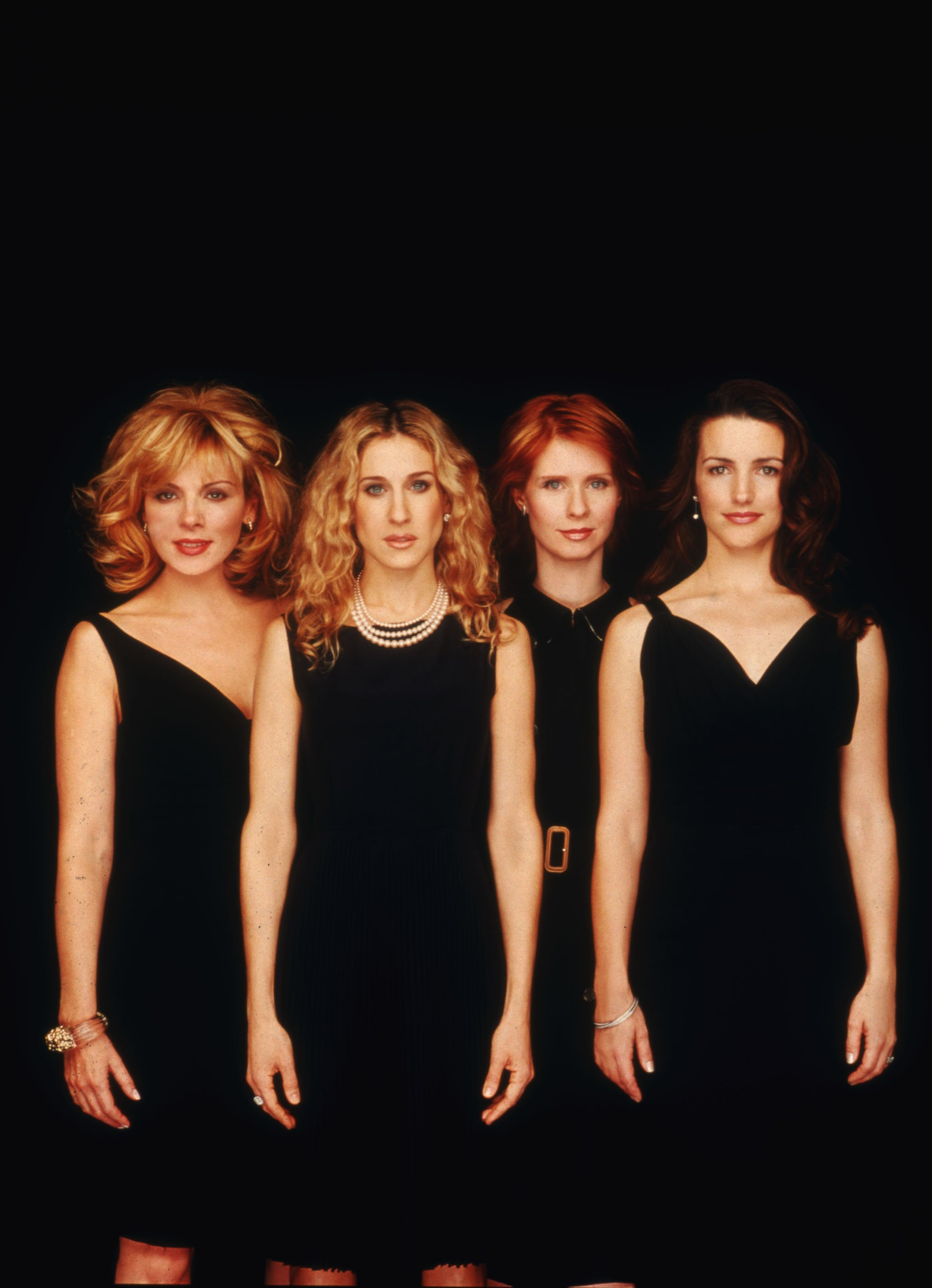 """The stars of """"Sex and The City"""", from left to right: Kim Cattral, Sarah Jessica Parker, Cynthia Nixon and Kristin Davis. The series aired between 1998 and 2004. 