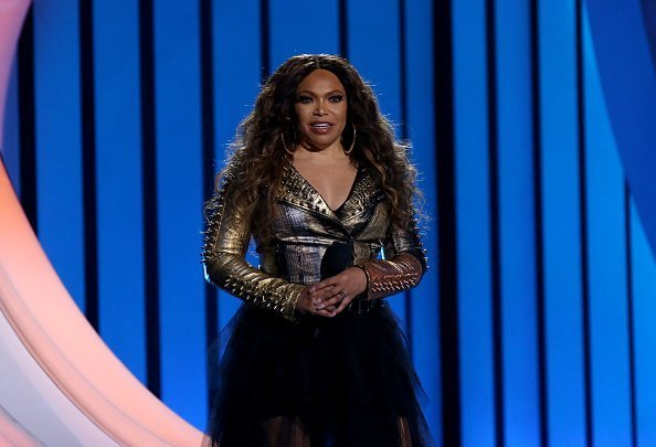 Tisha Campbell speaking during the 2019 Soul Train Awards in Las Vegas, Nevada.| Photo: Getty Images.