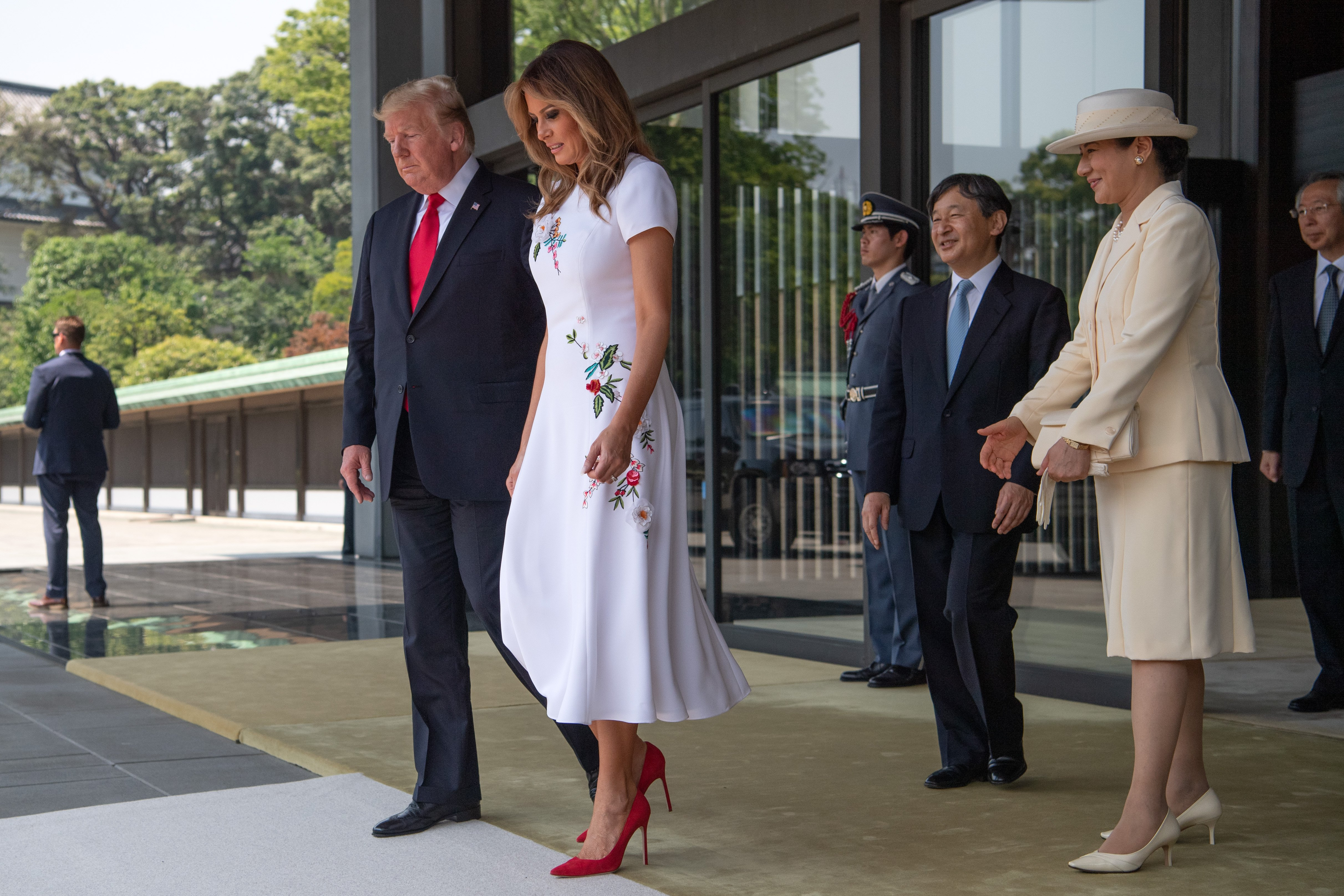 President Donald and First Lady Melania Trump meet Emperor Naruhito and Empress Masako in Tokyo | Photo: Getty Images