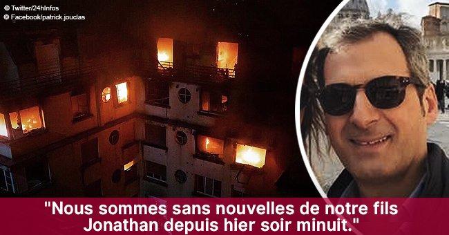 """""""Merci de faire tourner ce message"""": Le cri du père pour retrouver son fils disparu dans l'incendie de Paris"""
