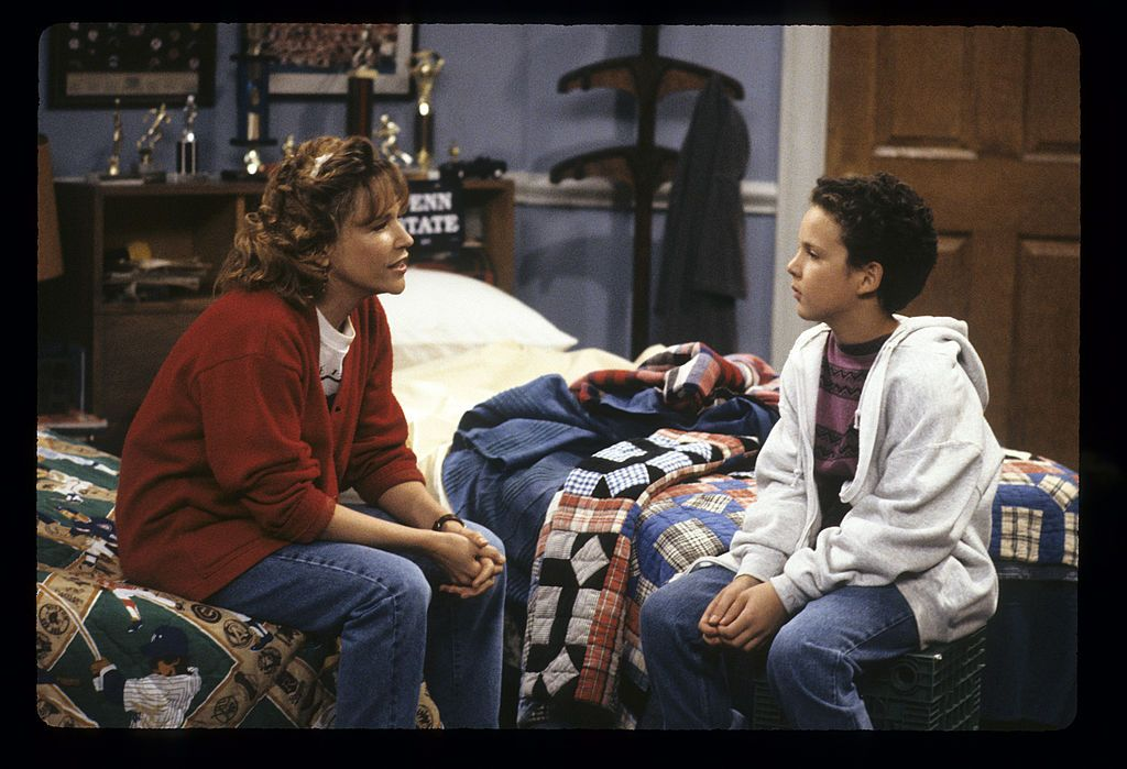 """Betsy Randle and Ben Savage on """"Boy Meets World,"""" September 24, 1993. 