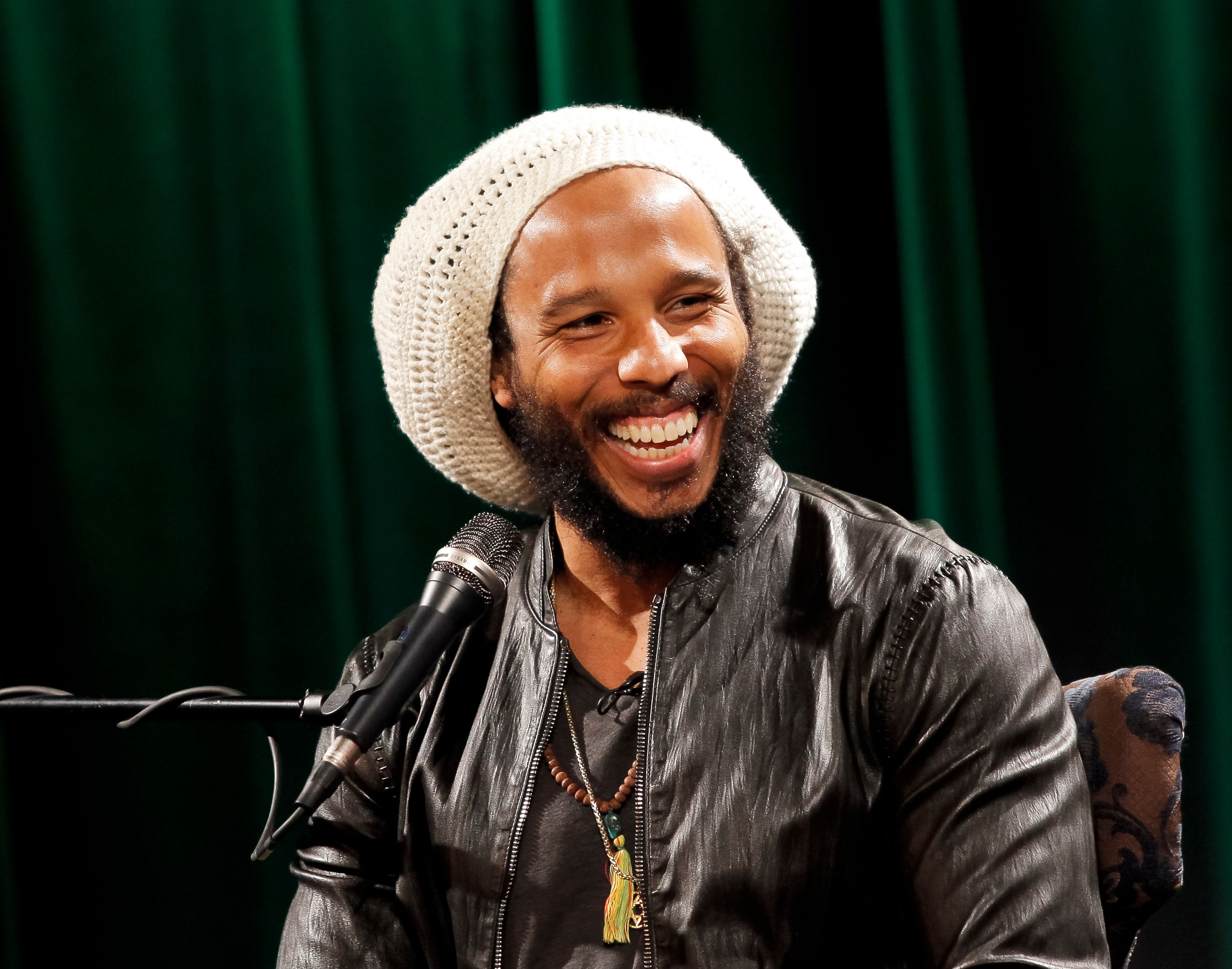 """Ziggy Marley at the Q&A and screening for the film """"Bob Marley & The Wailers: Easy Skanking in Boston '78"""" on February 18, 2015. 