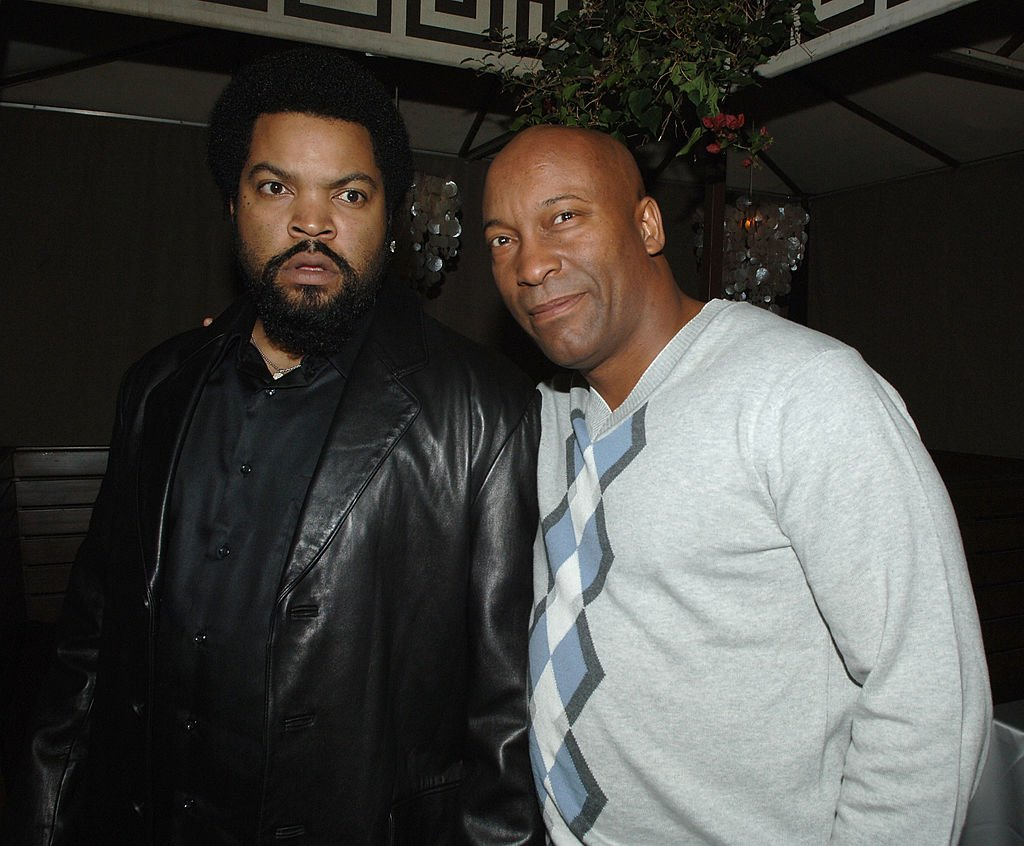 """Ice Cube and John Singleton at the after party of the premiere of """"First Sunday"""" in January 2018. 